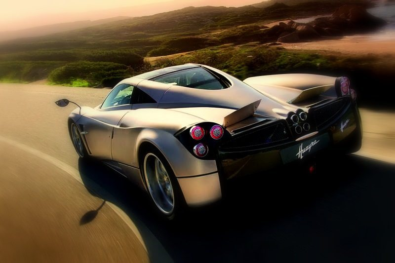 2012 Pagani Huayra Rear Angle View